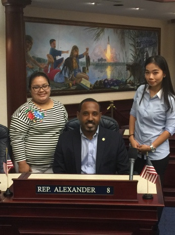 State Representative Ramon Alexander representing three districts under him in the State of Florida