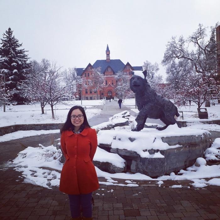 Trang visit Montana State University