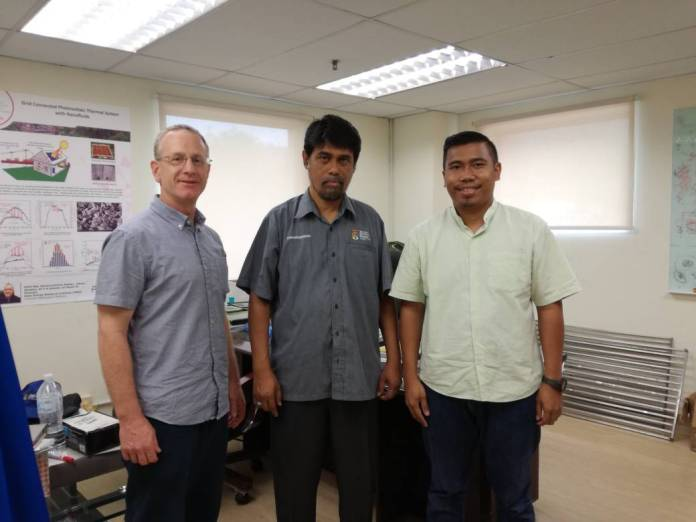 At the university with Iwan and Prof K, the leading solar researcher in Malaysia.