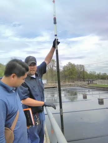 Checking on the wastewater column