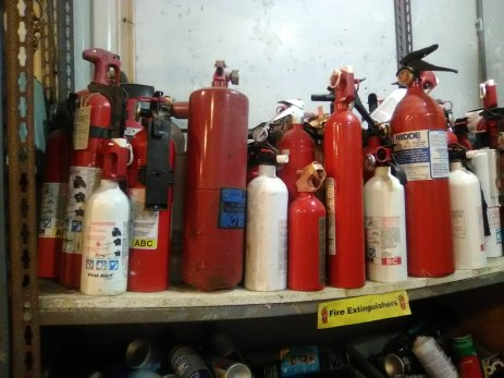 Fire agency will empty the bottle into a bucket and pressure it into another container