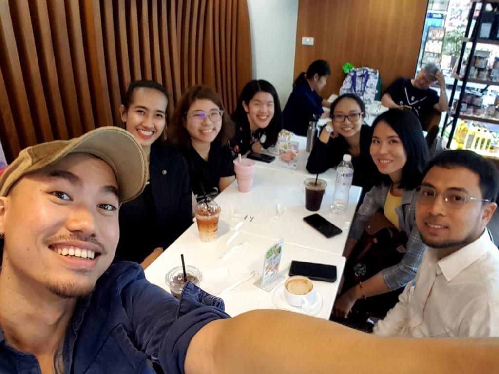 YSEALI Fellows 2019: Thai Fellow on first orientation in USA Embassy, Bangkok Thailand.
